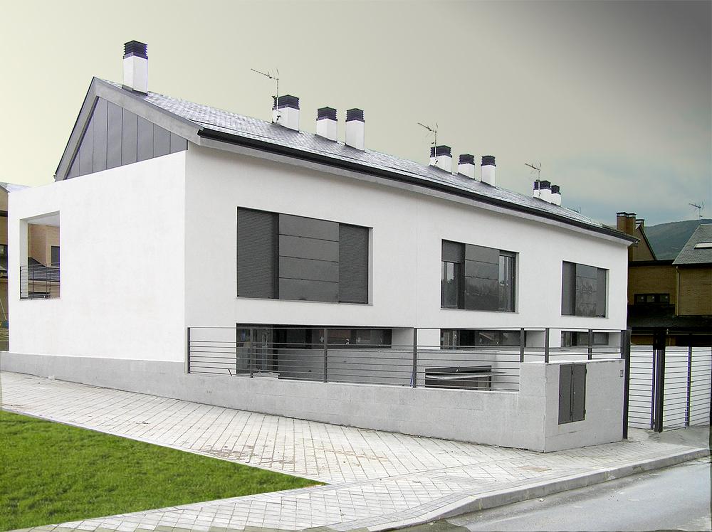 3 viviendas unifamiliares en el espinar proarq arquitectos - Proyectos casas unifamiliares ...